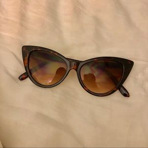 Accessories - Slim Cat Eye Tortoise Sunglasses